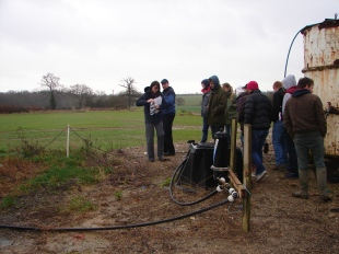 MSc Agriculture Students visit a Biobed in Essex. In partenrship with The Rivers Trust, Writtle College and the Chelmer and Blackwater Partnership.