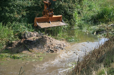 In river habitat enhancement works on a neighbouring river - Little Ouse