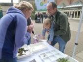 Learning about river bugs with Jenny & Rebecca from the environment Agency.