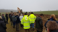 Delegates watched a ditching demonstration from Pearl Drainage
