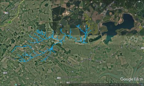 Google Maps image of Abberton Res and Layer Brook